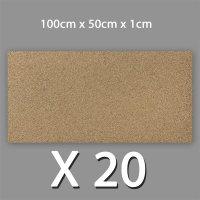 20 Korkplatten 10mm stark 0,5 x 1 Meter | 10m²