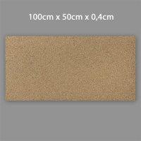 Korkplatten 4mm stark 0,5 x 1 Meter | 0,5m²