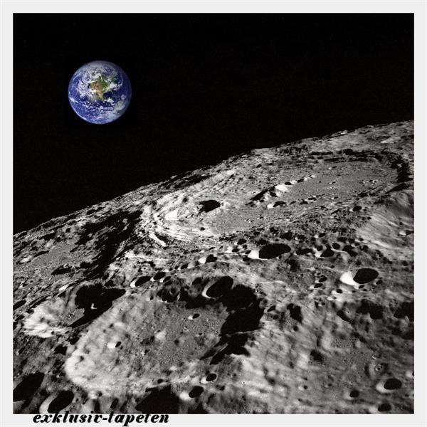 L wallpaper Moon 3 x 2,5 Meter (150g Vlies)