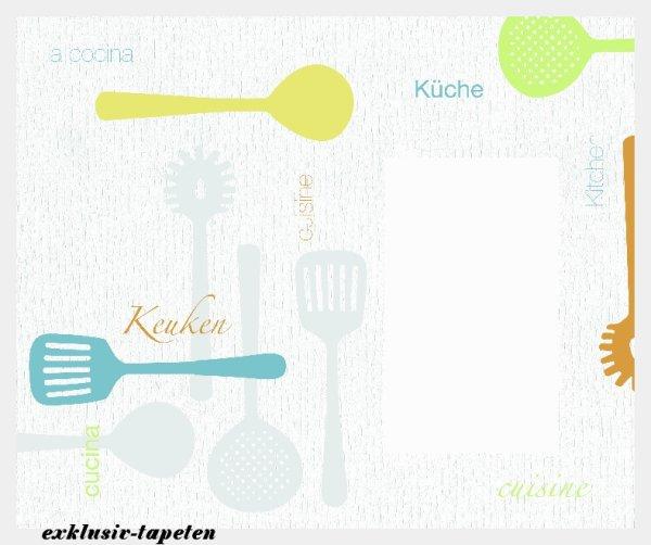 L wallpaper Kitchen 3 x 2,5 Meter (150g Vlies)