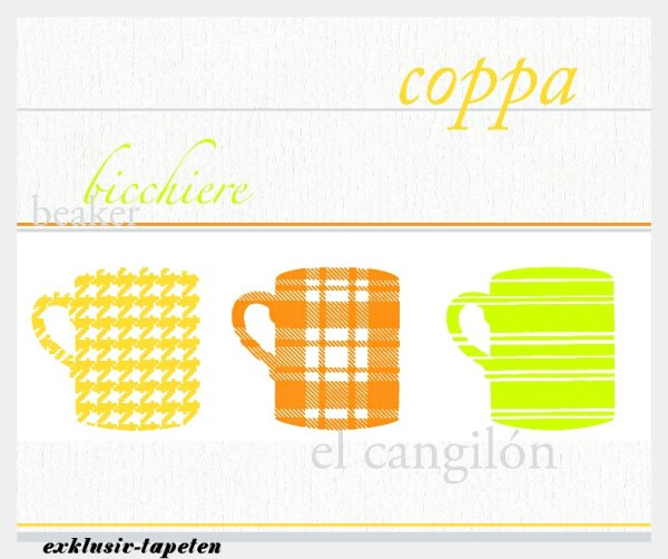 L wallpaper Cup 3 x 2,5 Meter (150g Vlies)
