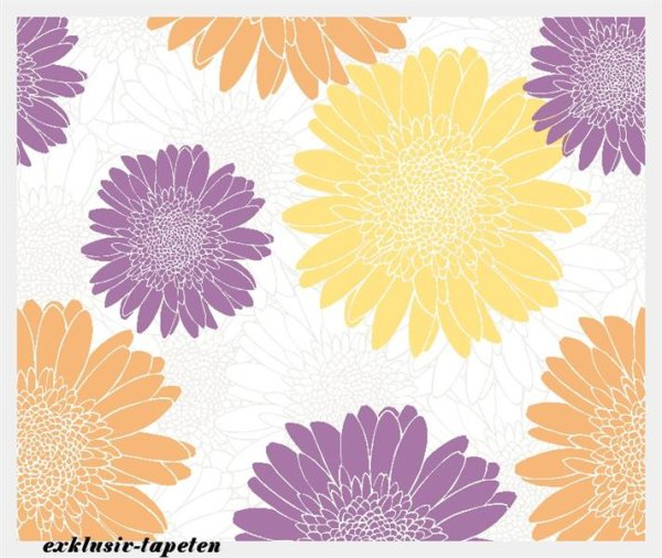 L wallpaper Flower 3 x 2,5 Meter (150g Vlies)