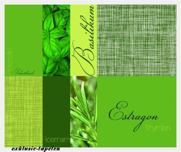 XL wallpaper Herbage 4 x 2,67 Meter (150g Vlies)
