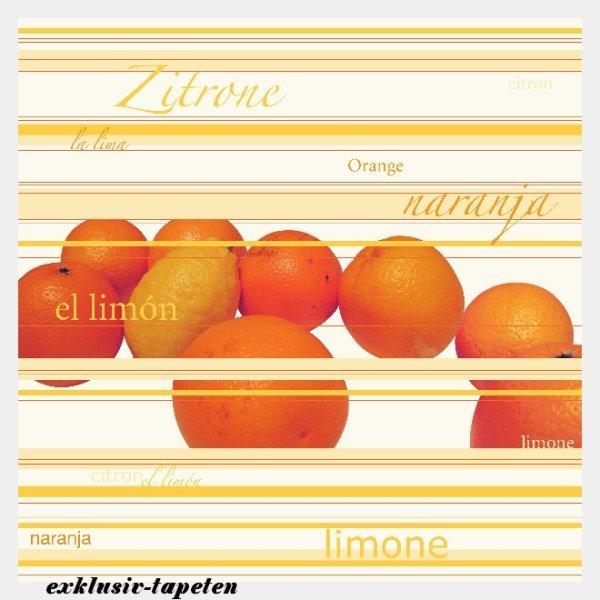 XL wallpaper Orange l Lemon 4 x 2,67 Meter (150g Vlies)