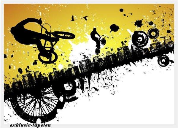XL wallpaper BMX Riders 4 x 2,67 Meter (150g Vlies)