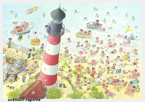 XL wallpaper Lighthouse 4 x 2,67 Meter (150g Vlies)