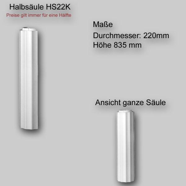 1/2 Säulenelement für dekorative Säule oder Halbsäule