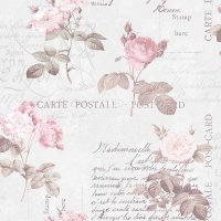Nostalgie Tapeten Postkarte Floral