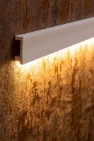 LED Wand,- Fussleiste 2 Meter 60 mm HD Polymer überstreichbar