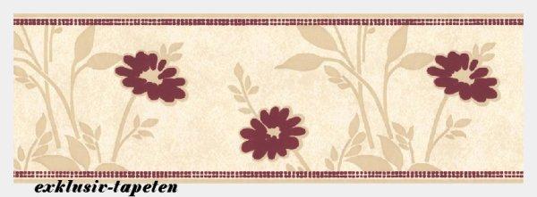 Bordüre großes Blumen Floral Muster