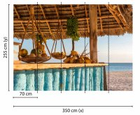 Fototapete 3,5 x 2,55 M. Beach Bar