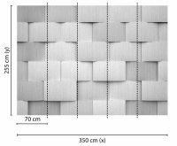 Fototapete 3,5 x 2,55 M. Alu Pattern 1