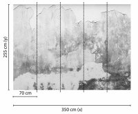 Fototapete 3,5 x 2,55 M. Brittle Wall