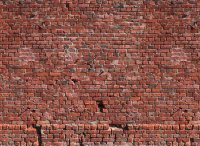 Fototapete 3,5 x 2,55 M. Brick Red
