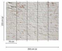 Fototapete 3,5 x 2,55 M. Brick White