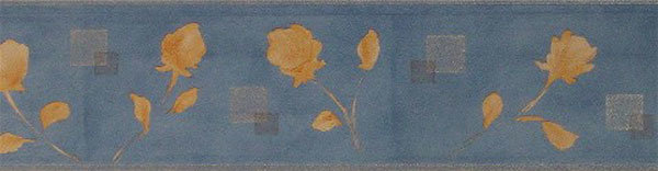 Borte floral blau gelb TOP PREIS