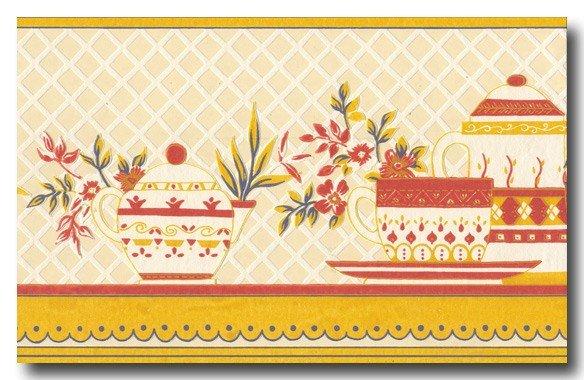 Bordüren Borte Teezeit Küche Esszimmer