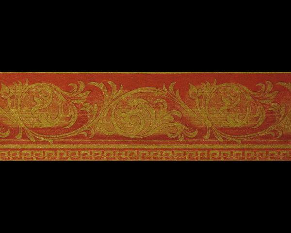 Satin Bordüre rot gold barock super Glanz