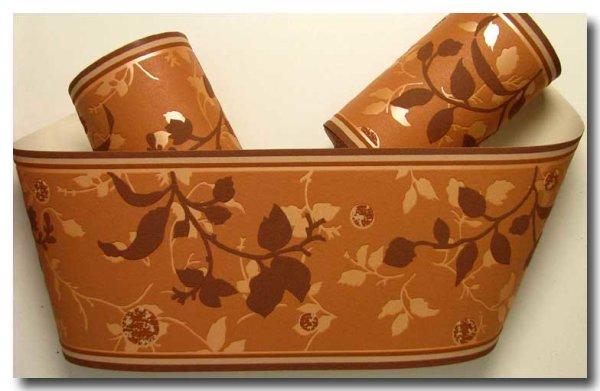 Borte Tapetenborte florales Muster